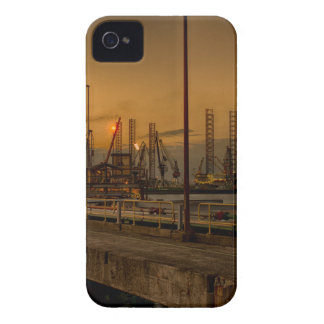 Rotterdam harbor by night iPhone 4 case