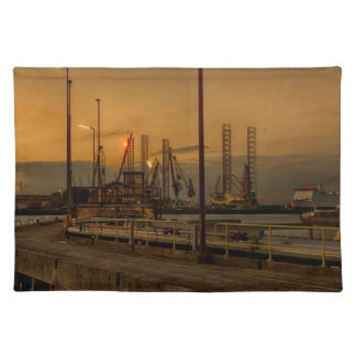 Rotterdam harbor by night placemat