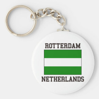 Rotterdam Netherlands Basic Round Button Key Ring
