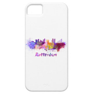 Rotterdam skyline in watercolor iPhone 5 cover