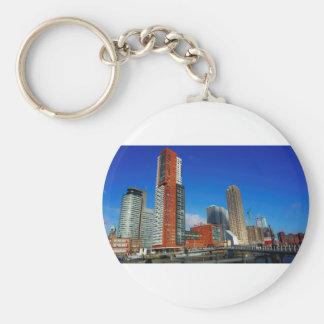 Rotterdam Skyline Key Ring