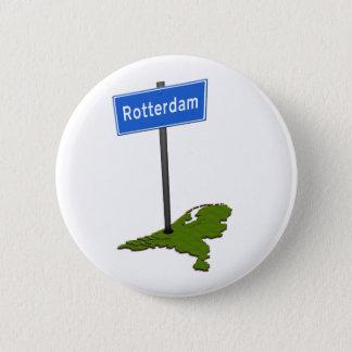 Rotterdam verkeersbord 6 cm round badge