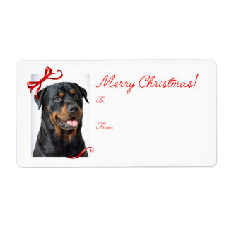 Rottie Christmas Gift Stickers