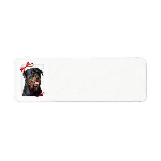 Rottie Return Address Labels