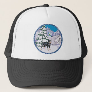rottie winter trucker hat
