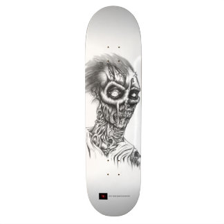 Rotting Zombie Black and White Skateboard Deck
