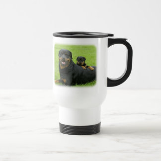 Rottweiler and Puppy Travel Mug