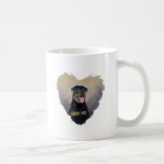 Rottweiler Art, I love Rotties Impressionist Coffee Mug