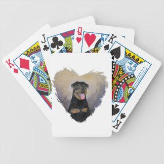 Rottweiler Art, I love Rotties Impressionist Poker Deck