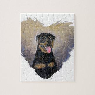 Rottweiler Art, I love Rotties Impressionist Puzzles