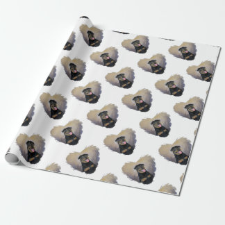Rottweiler Art, I love Rotties Impressionist Wrapping Paper