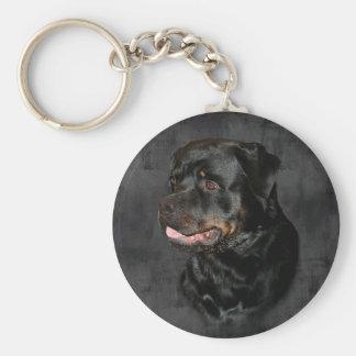 Rottweiler Basic Button Keychain
