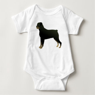 Rottweiler Basic Dog Breed Illustration Silhouette Baby Bodysuit