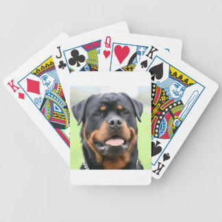 rottweiler bicycle playing cards