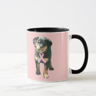 Rottweiler Breast Cancer Mug