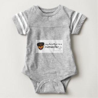 rottweiler brother baby bodysuit