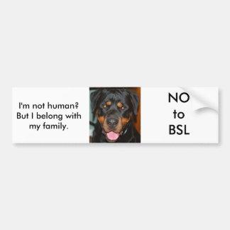 Rottweiler BSL Bumper Sticker