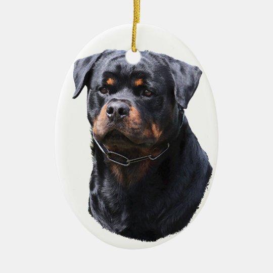 Rottweiler Ceramic Oval Decoration