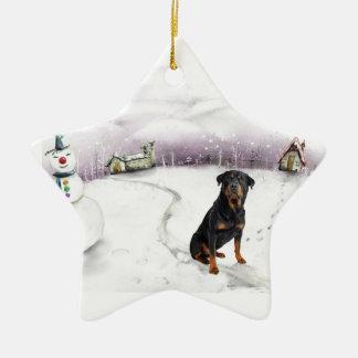 Rottweiler Christmas ornament