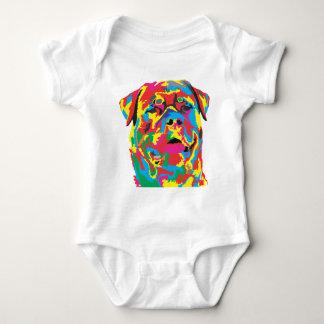rottweiler color baby bodysuit