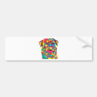 rottweiler color bumper sticker