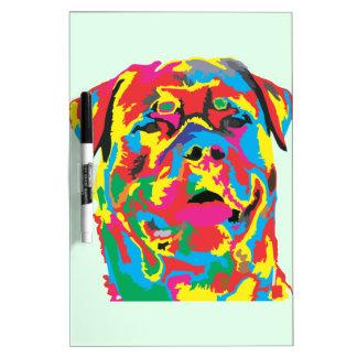 rottweiler color dry erase board