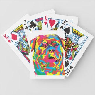 rottweiler color poker deck
