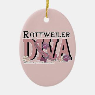 Rottweiler DIVA Christmas Ornaments