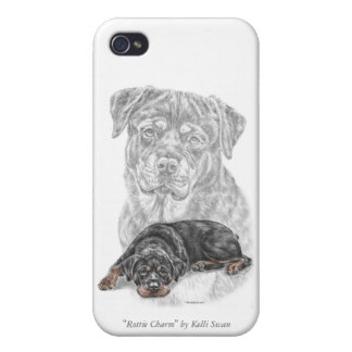 Rottweiler Dog Art Cases For iPhone 4