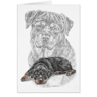 Rottweiler Dog Art Greeting Card