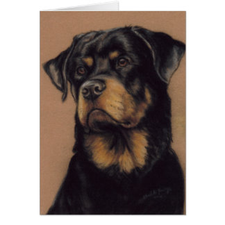 Rottweiler Dog Art Greeting Card
