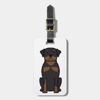 Rottweiler Dog Cartoon Luggage Tag