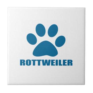ROTTWEILER DOG DESIGNS CERAMIC TILE