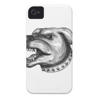 Rottweiler Dog Head Growling Tattoo Case-Mate iPhone 4 Cases