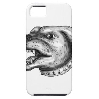 Rottweiler Dog Head Growling Tattoo iPhone 5 Covers