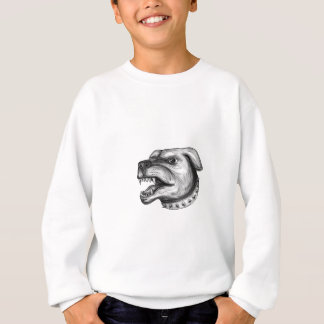 Rottweiler Dog Head Growling Tattoo Sweatshirt