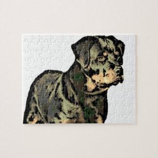 Rottweiler dog jigsaw puzzle