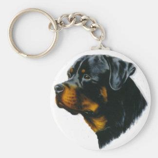 rottweiler dog key ring