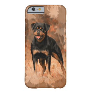 Rottweiler Dog Oil Painting Watercolor Art Barely There iPhone 6 Case