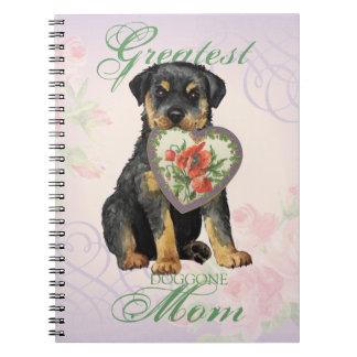Rottweiler Heart Mom Note Books