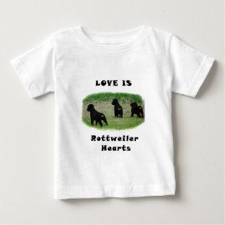 Rottweiler hearts baby T-Shirt