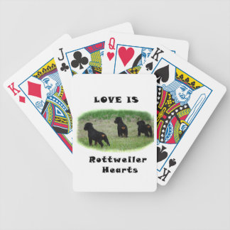 Rottweiler hearts bicycle playing cards