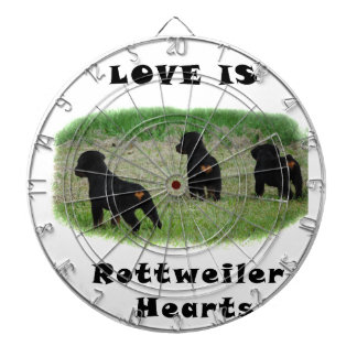 Rottweiler hearts dartboards