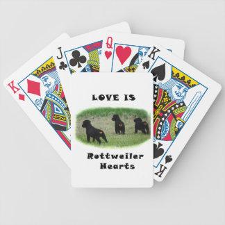 Rottweiler hearts poker deck