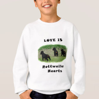 Rottweiler hearts sweatshirt