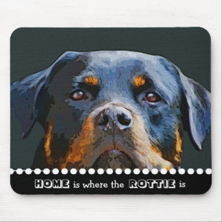 Rottweiler Home Is Where the Rottie Is Dog Quote Mouse Pad