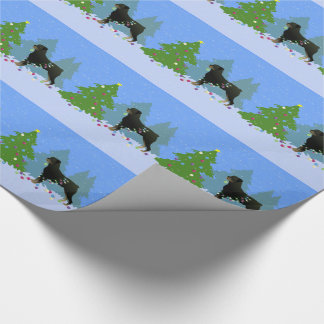Rottweiler in the Christmas Forest Wrapping Paper