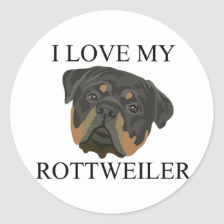ROTTWEILER Love! Classic Round Sticker