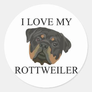 ROTTWEILER Love! Round Sticker