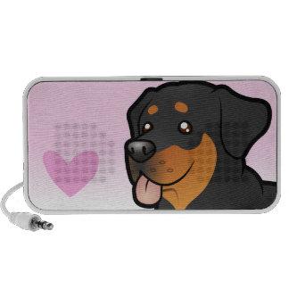 Rottweiler Love Laptop Speakers